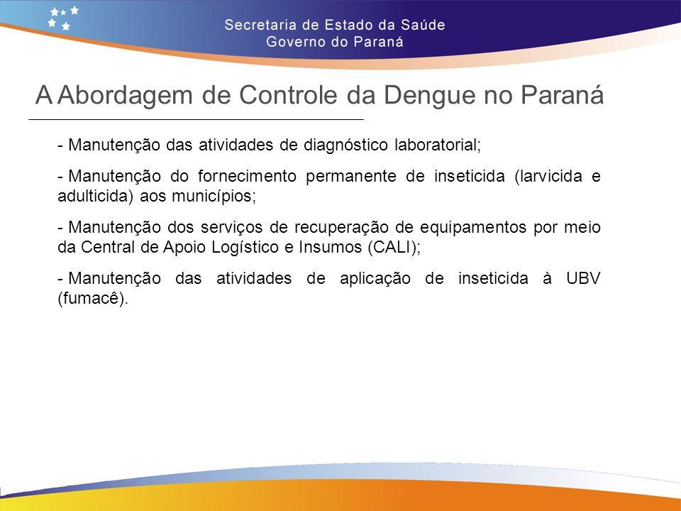 A Abordagem de Controle da Dengue no Paraná