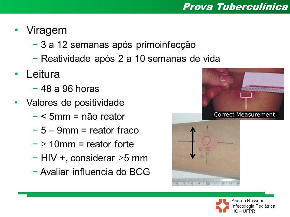Viragem Leitura 3 a 12 semanas após primoinfecção