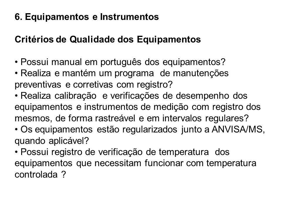 6. Equipamentos e Instrumentos