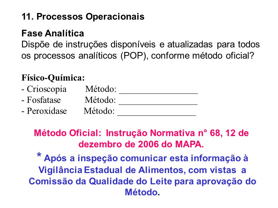 11. Processos Operacionais