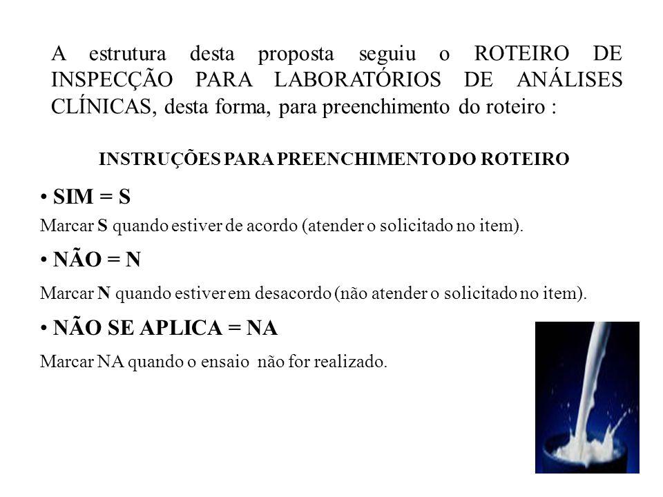 INSTRUÇÕES PARA PREENCHIMENTO DO ROTEIRO