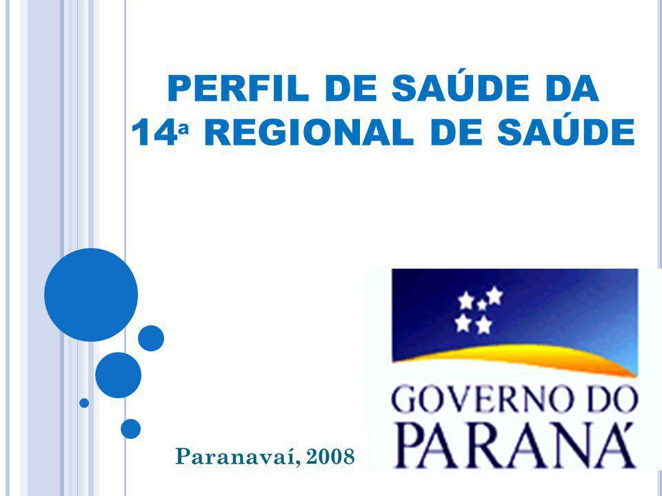PERFIL DE SAÚDE DA 14ª REGIONAL DE SAÚDE