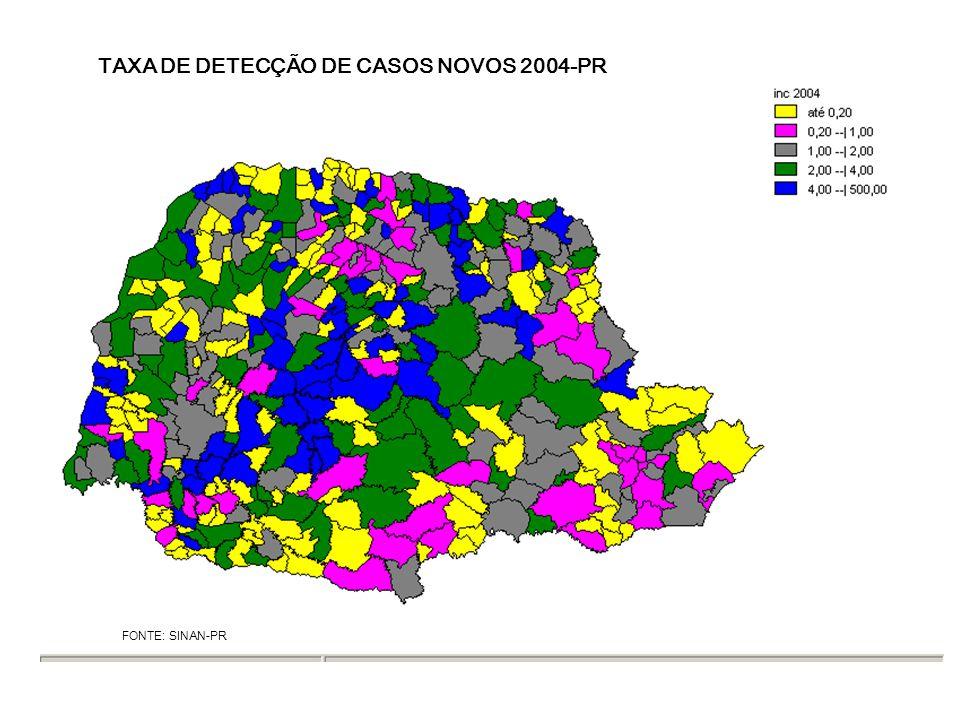TAXA DE DETECÇÃO DE CASOS NOVOS 2004-PR