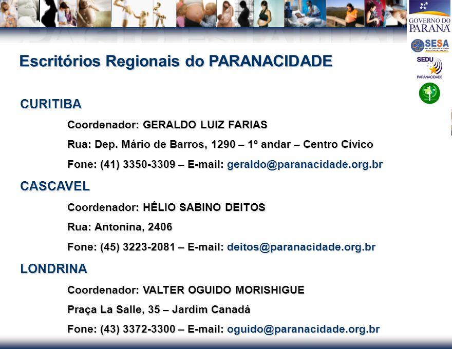 Escritórios Regionais do PARANACIDADE