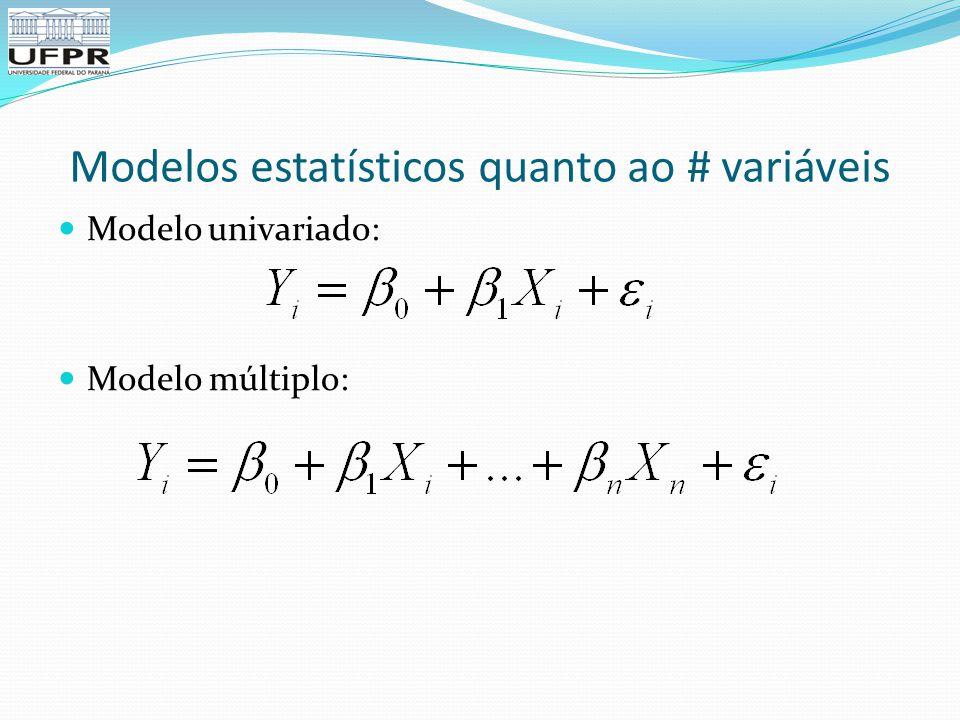 Modelos estatísticos quanto ao # variáveis