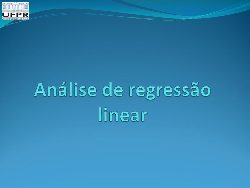 Análise de regressão linear