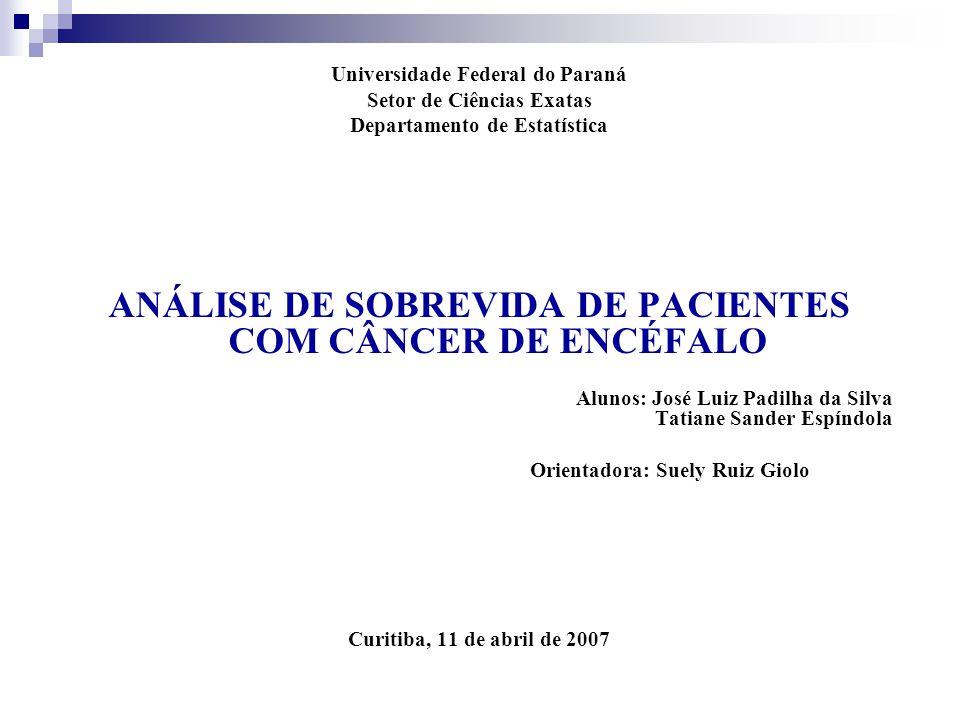 ANÁLISE DE SOBREVIDA DE PACIENTES COM CÂNCER DE ENCÉFALO