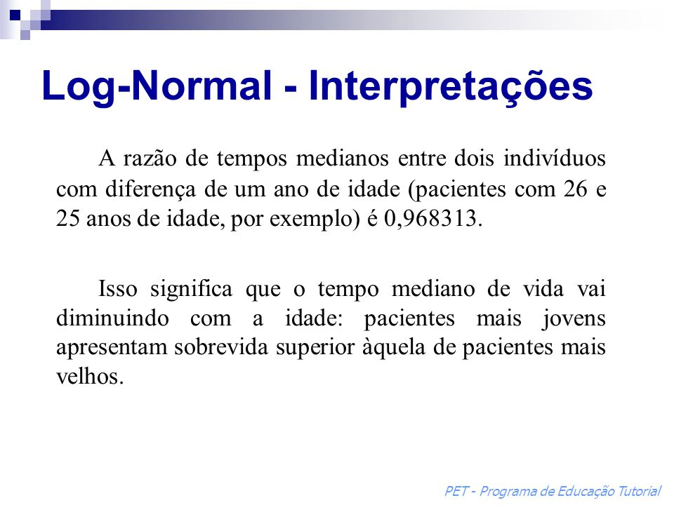 Log-Normal - Interpretações