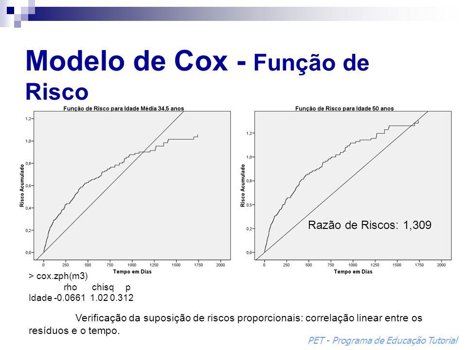 Modelo de Cox - Função de Risco