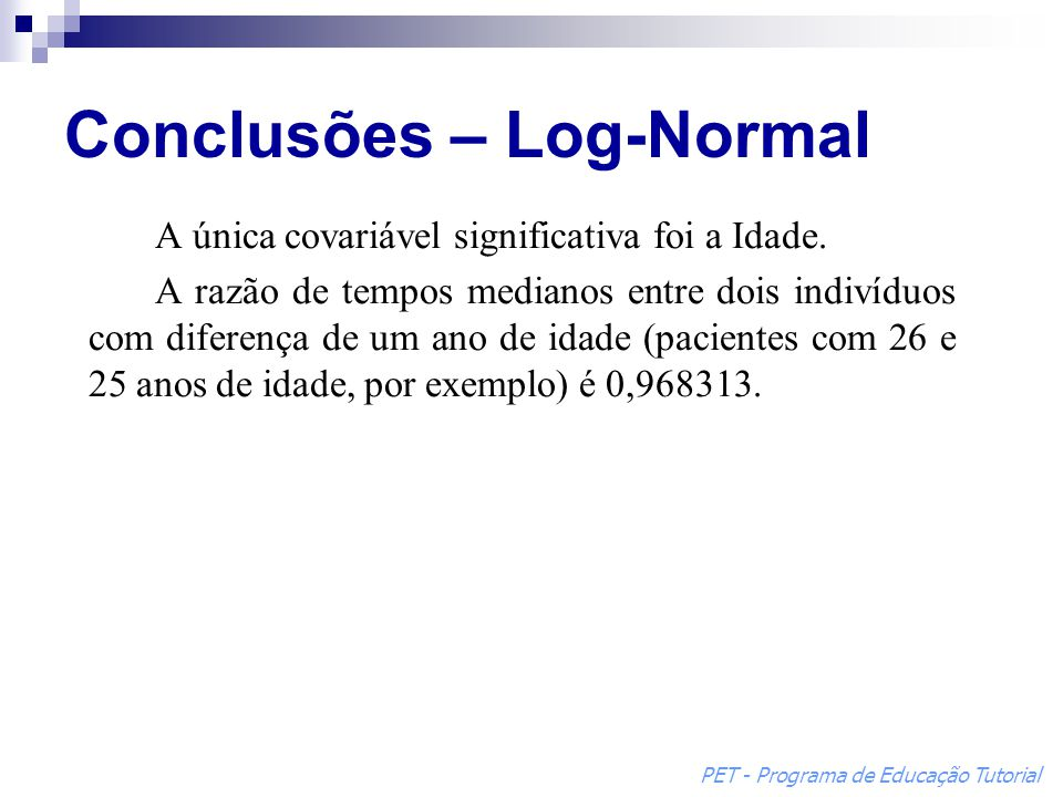 Conclusões – Log-Normal