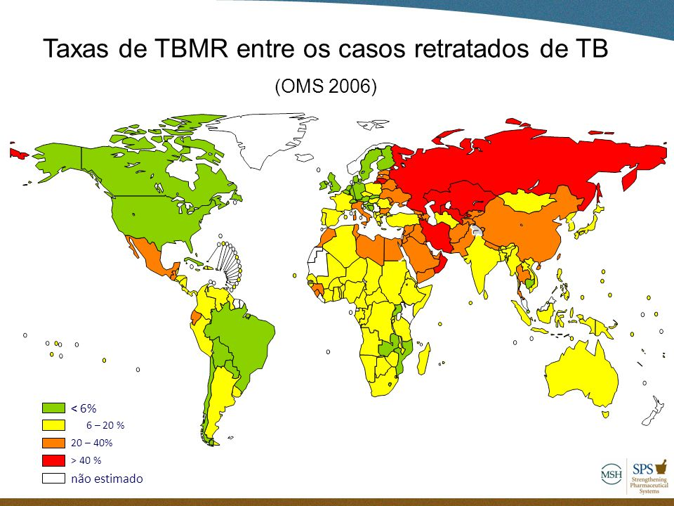 Taxas de TBMR entre os casos retratados de TB