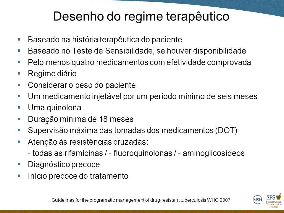Desenho do regime terapêutico