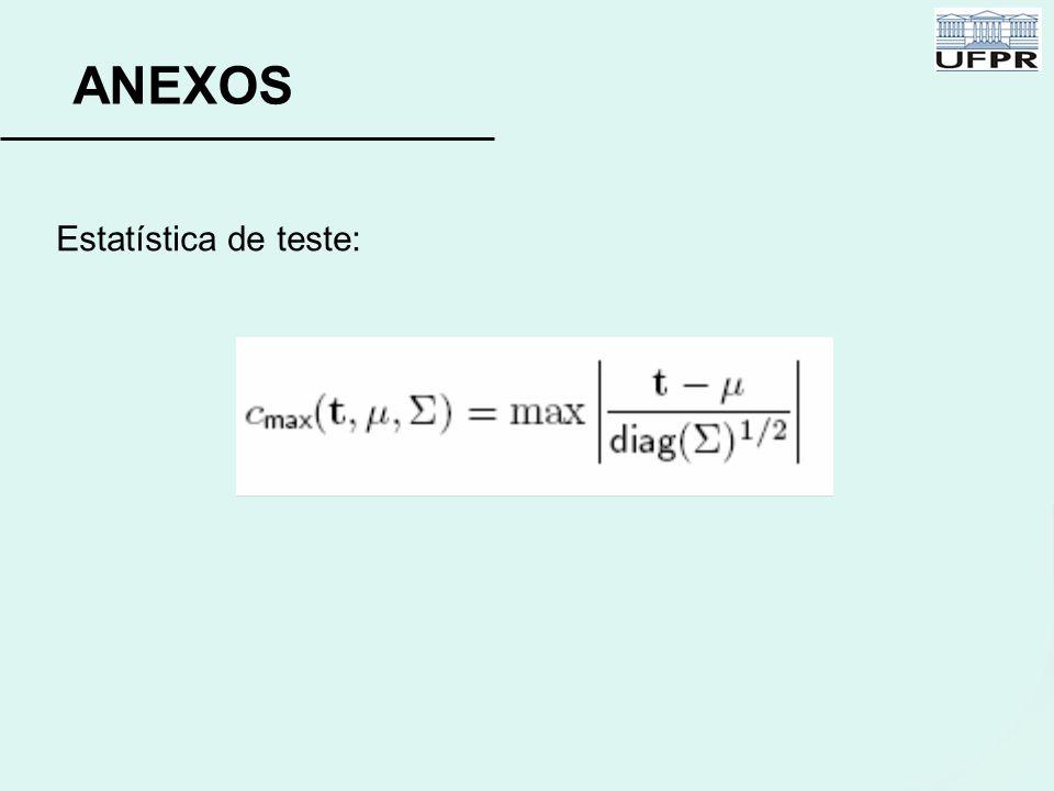 ANEXOS Estatística de teste:
