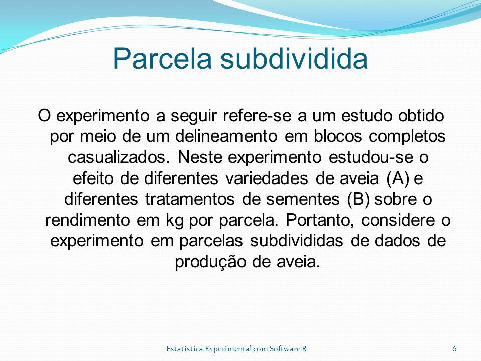 Parcela subdividida