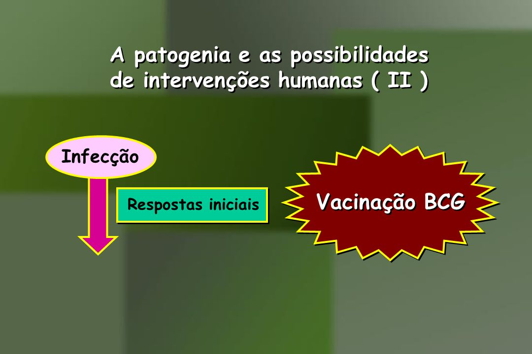 A patogenia e as possibilidades de intervenções humanas ( II )
