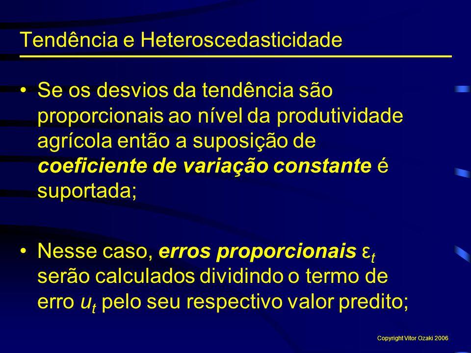 Tendência e Heteroscedasticidade