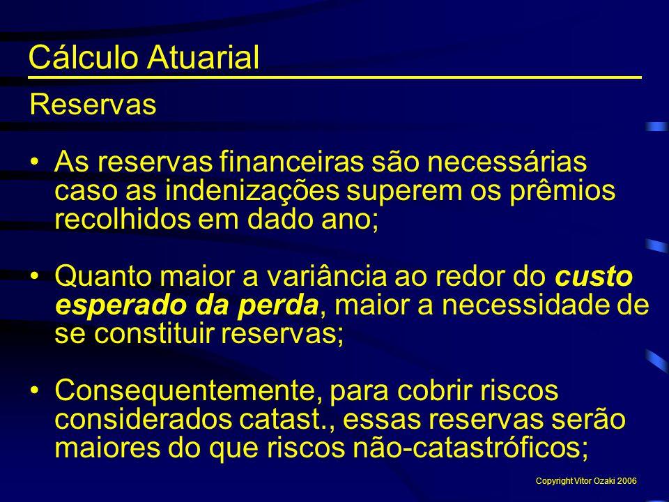 Cálculo Atuarial Reservas