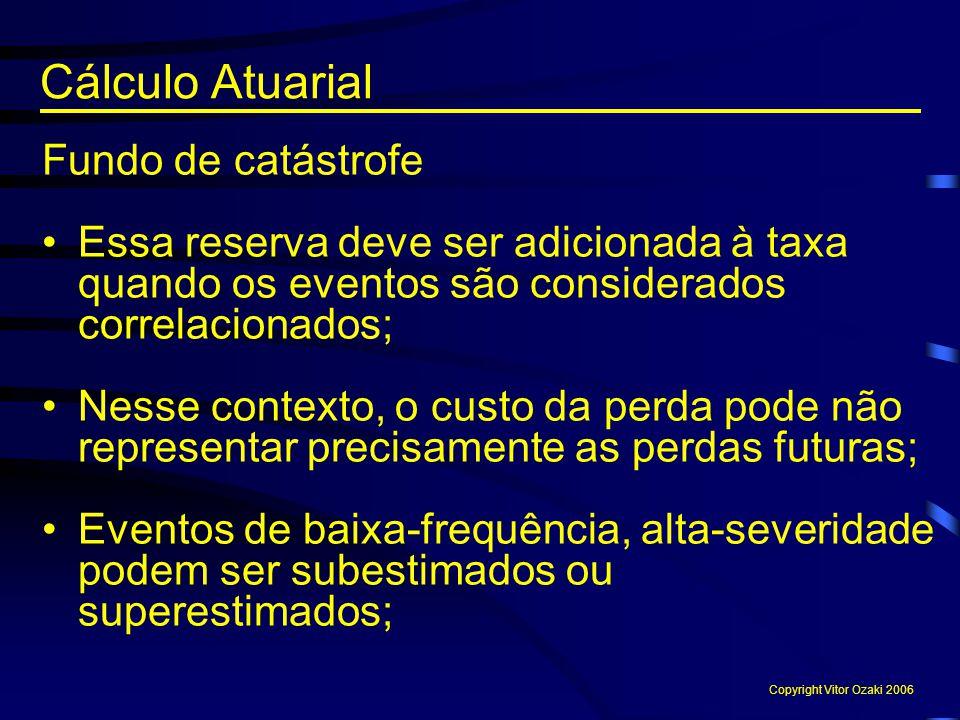 Cálculo Atuarial Fundo de catástrofe