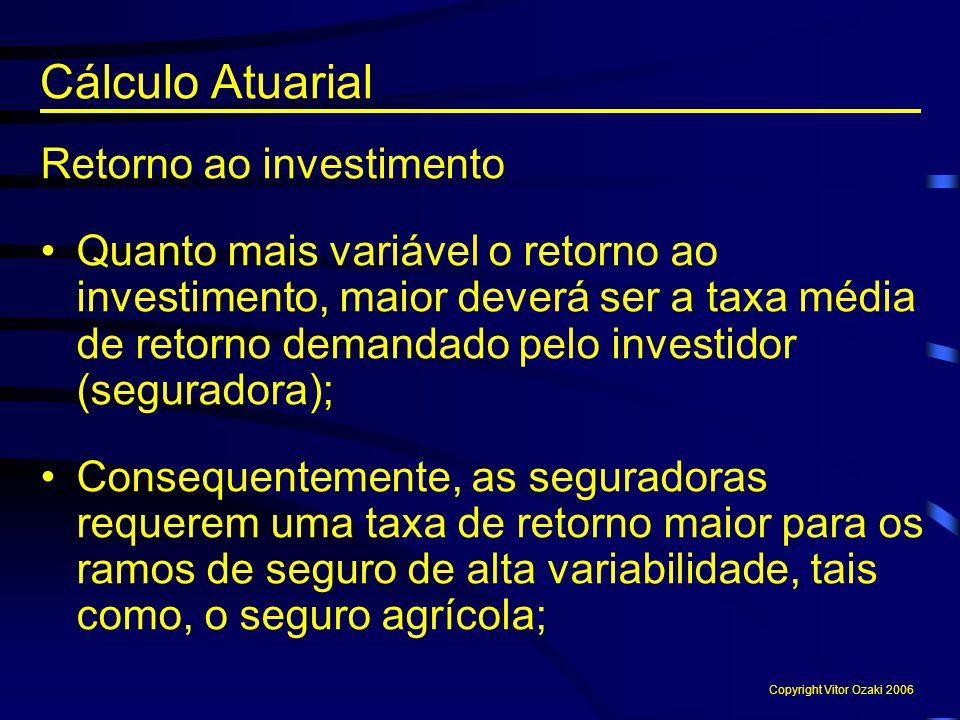 Cálculo Atuarial Retorno ao investimento