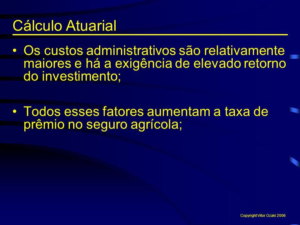 Cálculo Atuarial Os custos administrativos são relativamente maiores e há a exigência de elevado retorno do investimento;