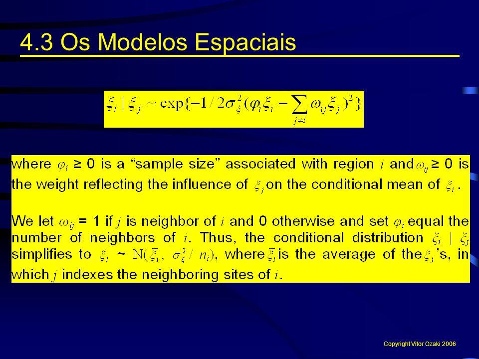 4.3 Os Modelos Espaciais Copyright Vitor Ozaki 2006