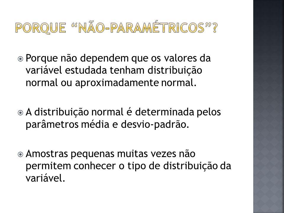 Porque não-paramétricos