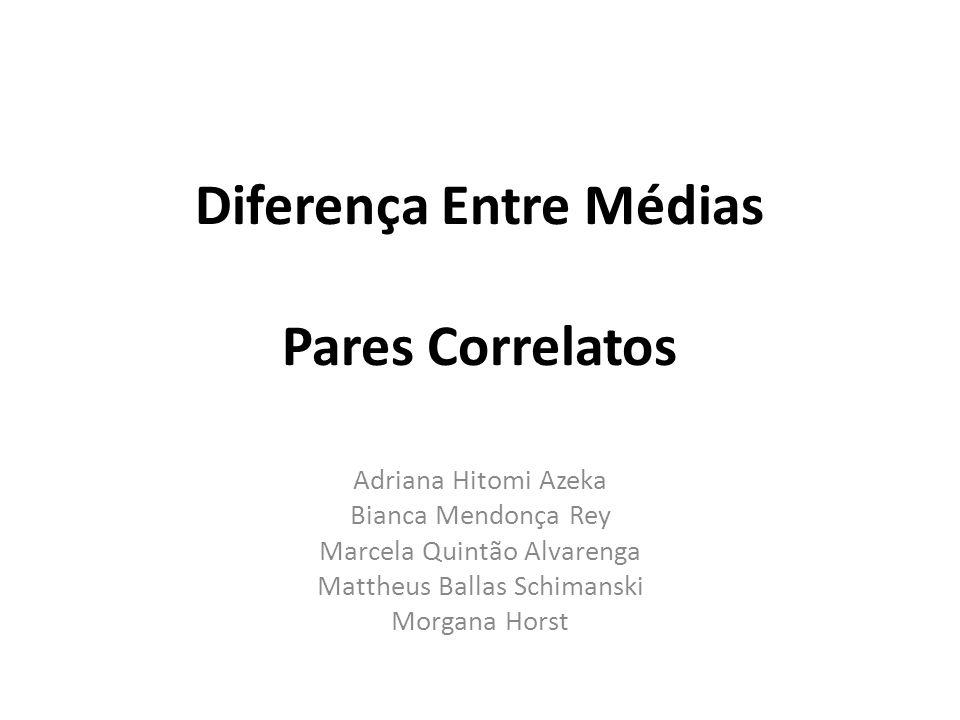 Diferença Entre Médias Pares Correlatos