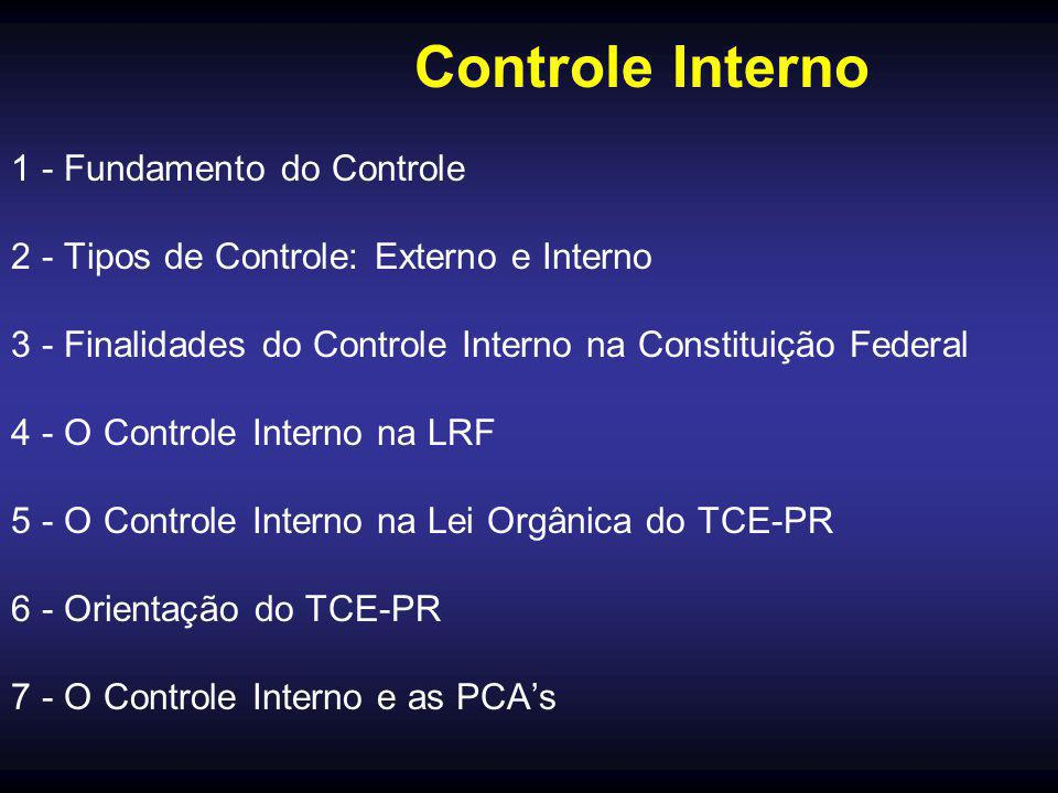 Controle Interno 1 - Fundamento do Controle