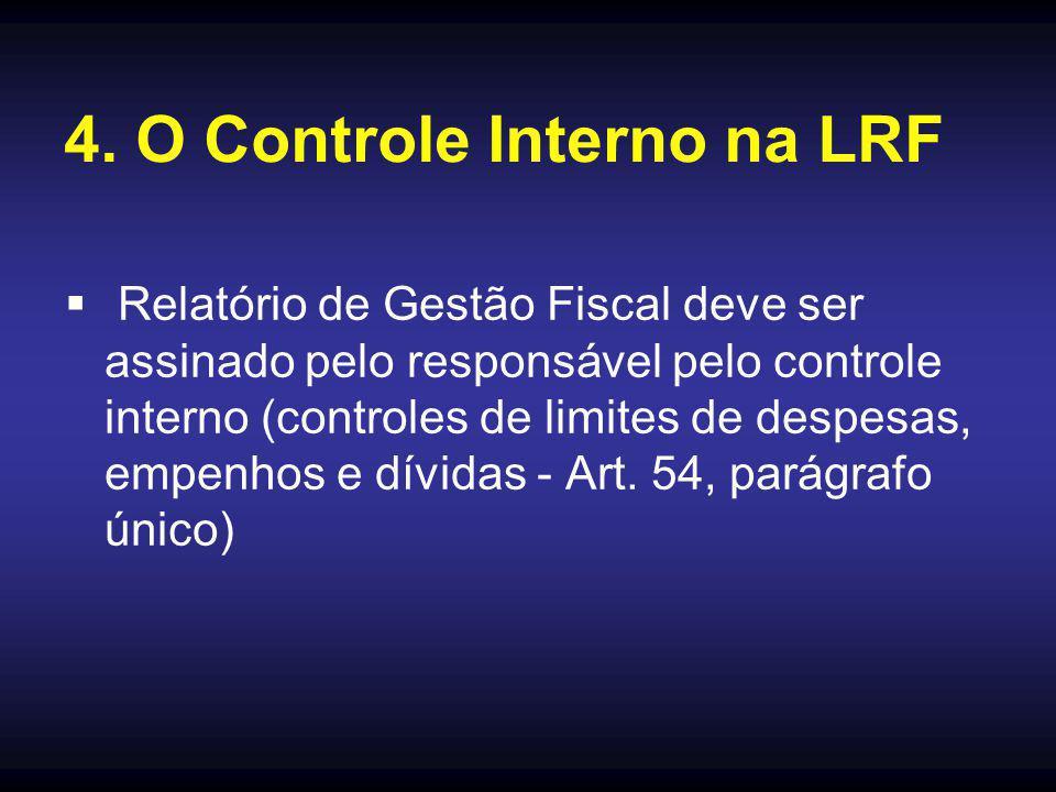 4. O Controle Interno na LRF