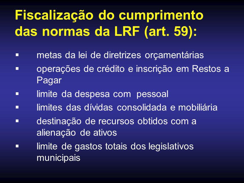 Fiscalização do cumprimento das normas da LRF (art. 59):