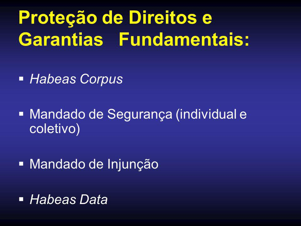 Proteção de Direitos e Garantias Fundamentais: