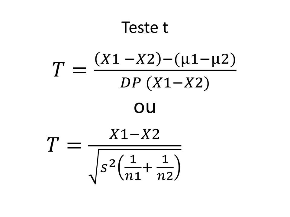 Teste t