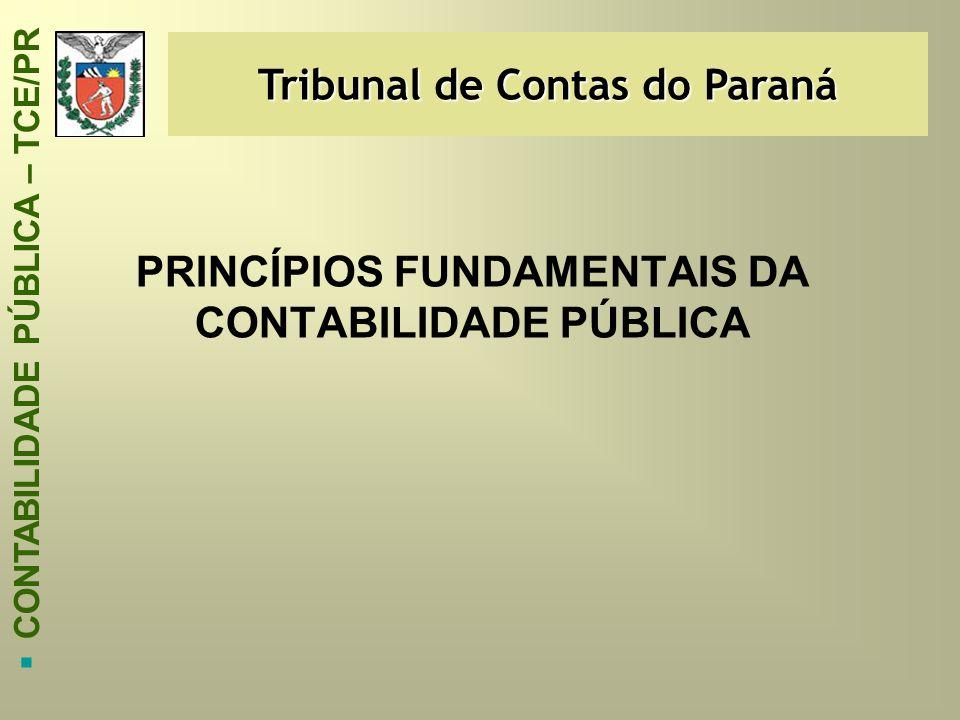 PRINCÍPIOS FUNDAMENTAIS DA CONTABILIDADE PÚBLICA