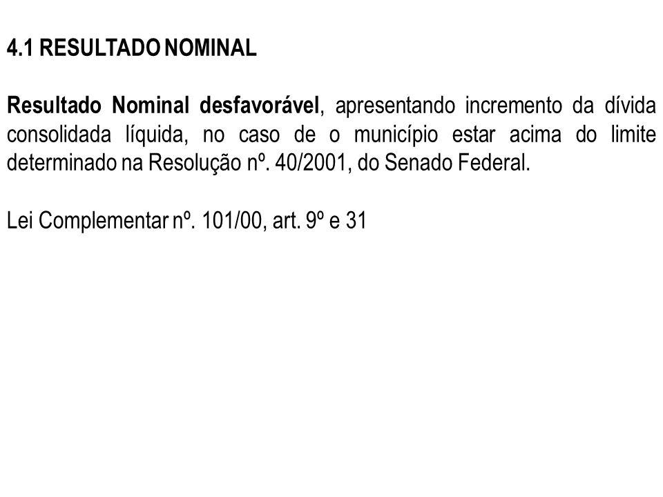 4.1 RESULTADO NOMINAL