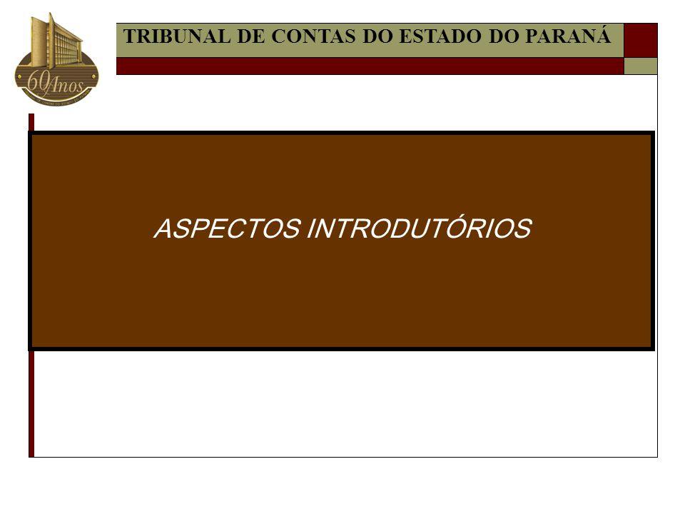 ASPECTOS INTRODUTÓRIOS