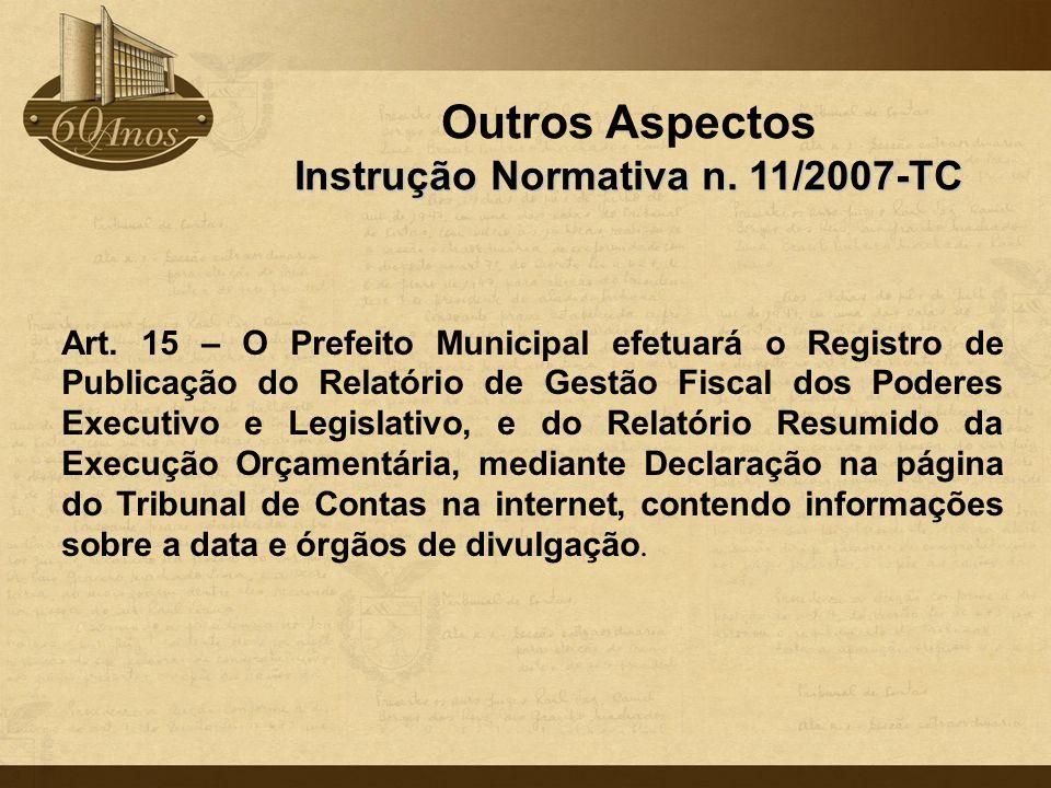 Instrução Normativa n. 11/2007-TC