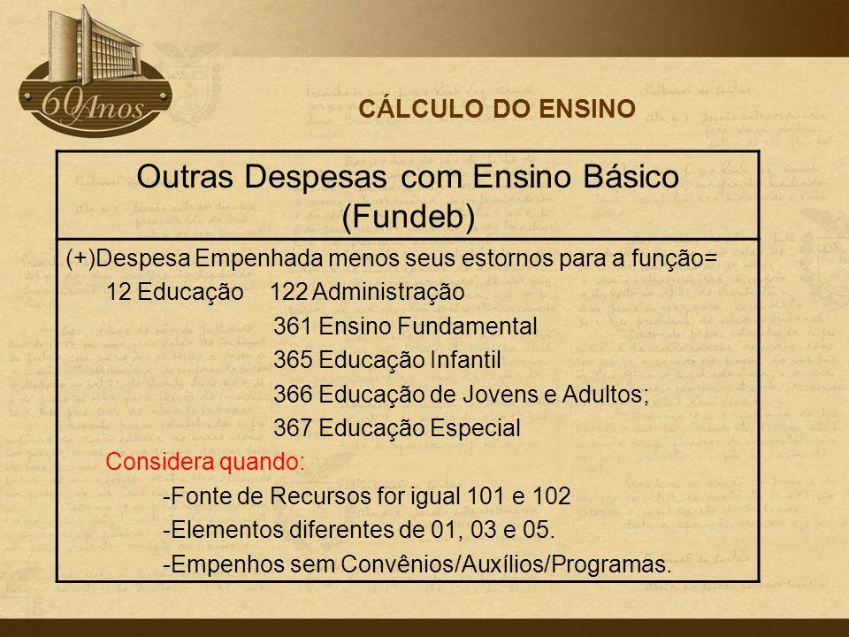 Outras Despesas com Ensino Básico (Fundeb)