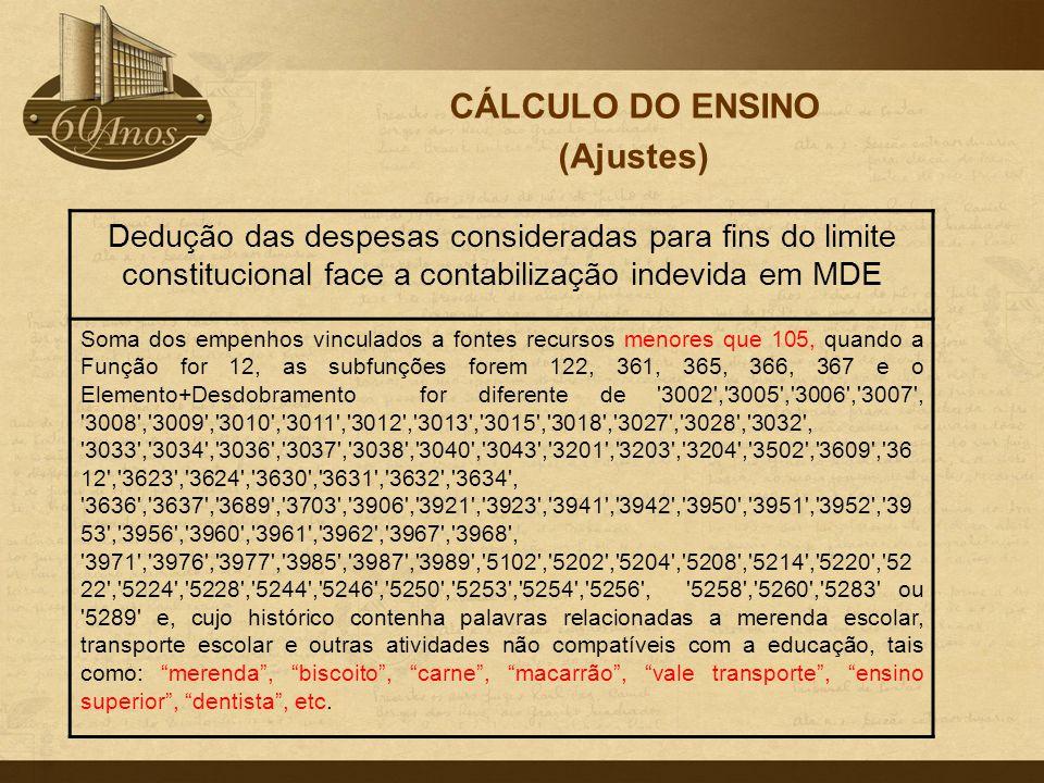 CÁLCULO DO ENSINO (Ajustes)