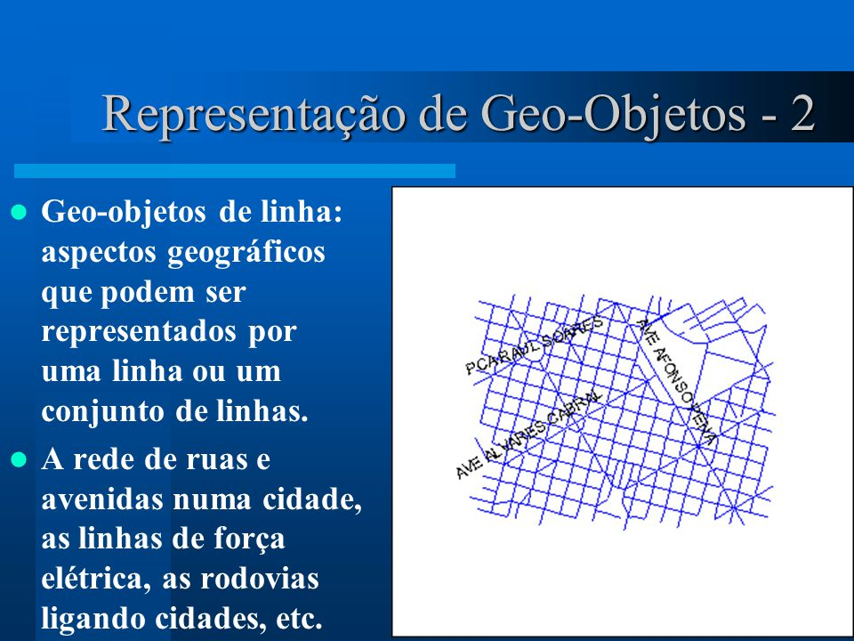 Representação de Geo-Objetos - 2