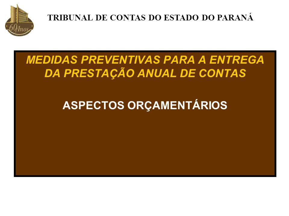 MEDIDAS PREVENTIVAS PARA A ENTREGA DA PRESTAÇÃO ANUAL DE CONTAS