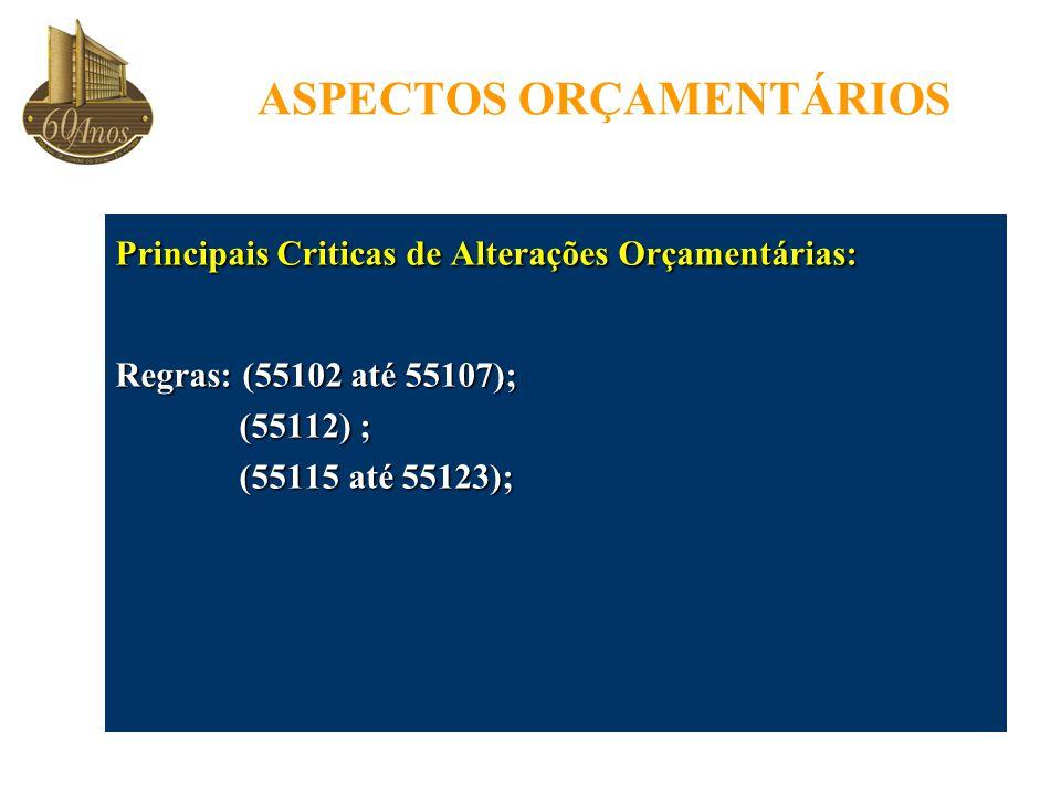ASPECTOS ORÇAMENTÁRIOS