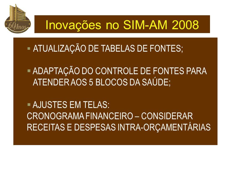 Inovações no SIM-AM 2008 ADAPTAÇÃO DO CONTROLE DE FONTES PARA