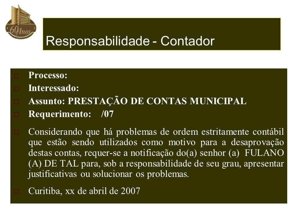 Responsabilidade - Contador