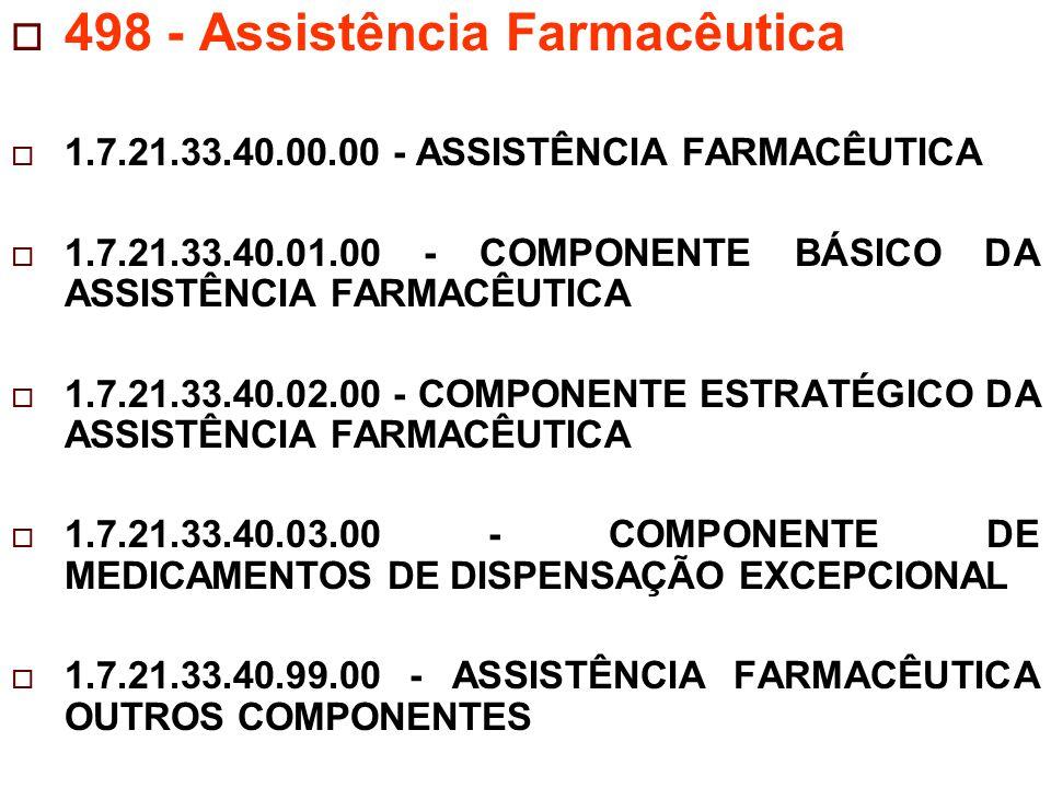 498 - Assistência Farmacêutica