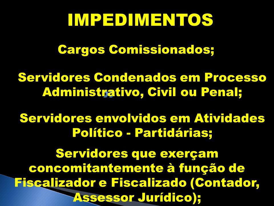 IMPEDIMENTOS Cargos Comissionados;