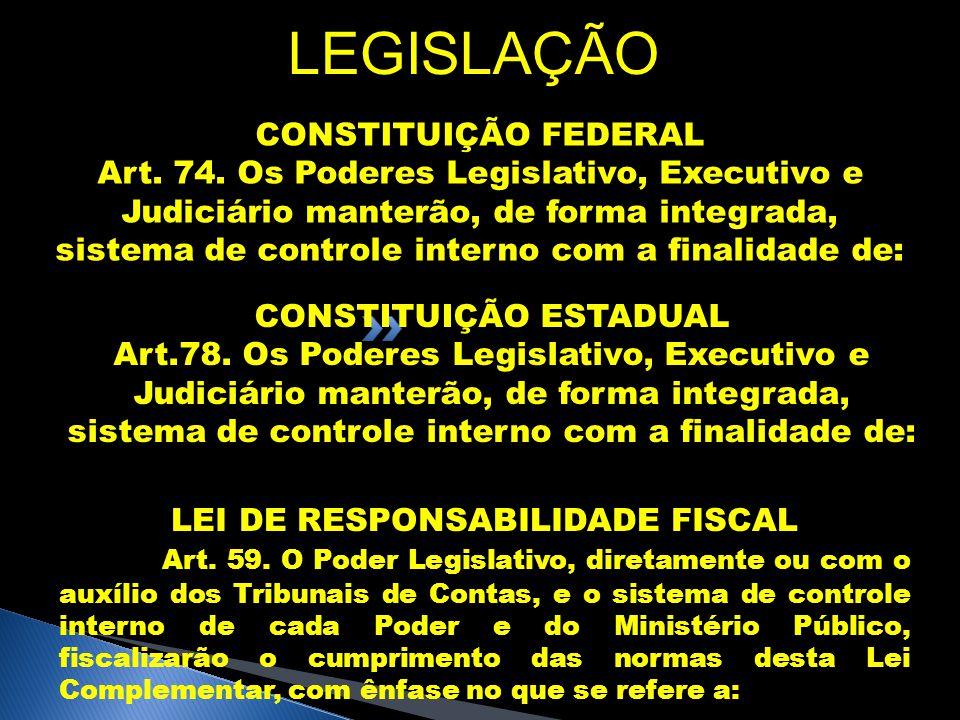 CONSTITUIÇÃO ESTADUAL LEI DE RESPONSABILIDADE FISCAL