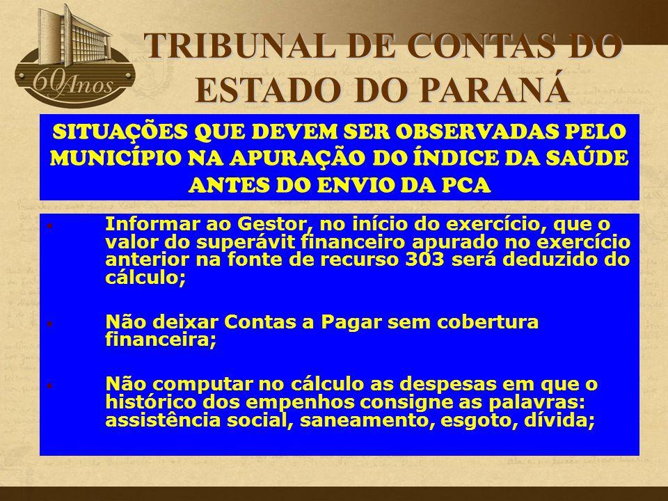 TRIBUNAL DE CONTAS DO ESTADO DO PARANÁ
