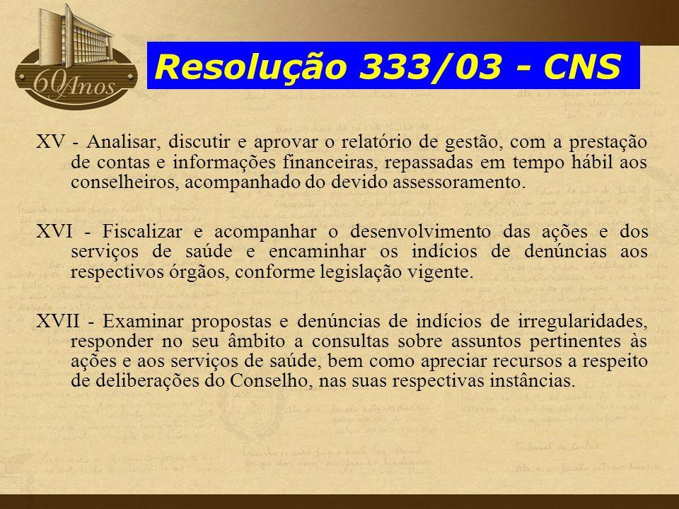 Resolução 333/03 - CNS