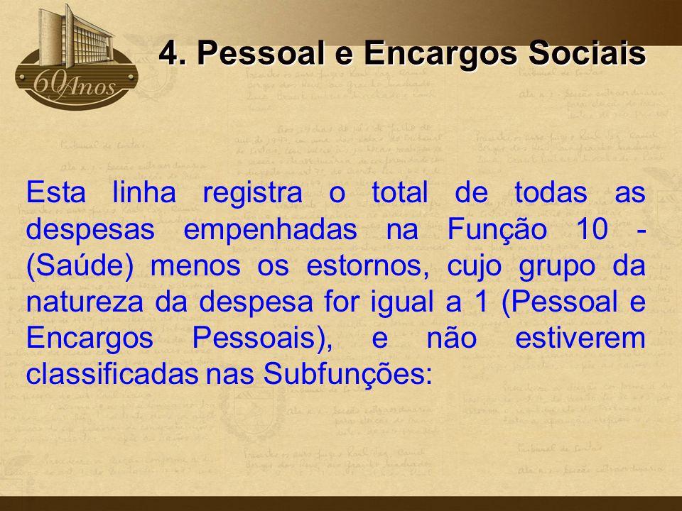 4. Pessoal e Encargos Sociais