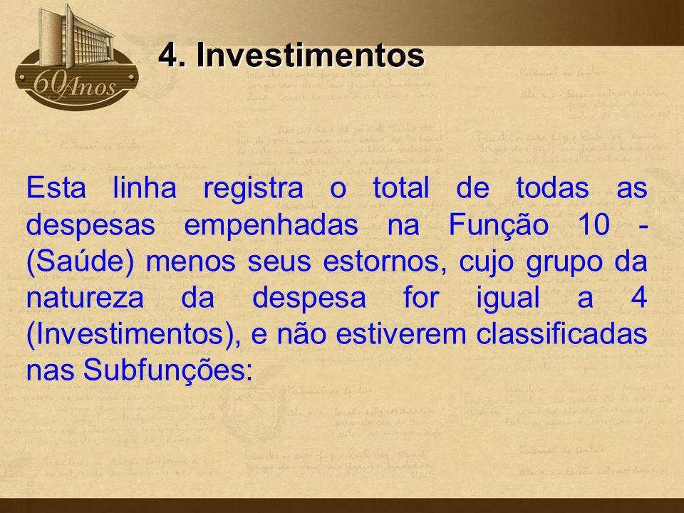 4. Investimentos